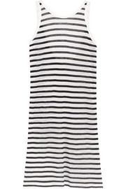 Striped jersey mini dress