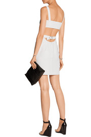 T by Alexander Wang Layered stretch-crepe mini dress