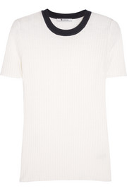 T by Alexander Wang Ribbed merino wool T-shirt