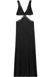 Michelle lace-trimmed silk-blend satin nightdress