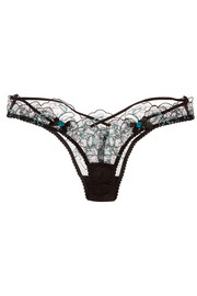 Callie embroidered tulle briefs