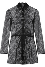Laretta embroidered lace robe