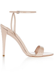 Swarovski crystal-embellished patent-leather sandals