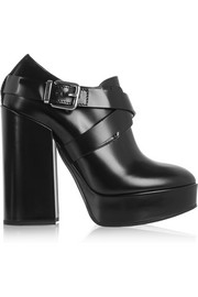Jil Sander Leather platform ankle boots