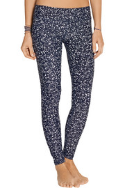 Glow Dot printed stretch-jersey leggings