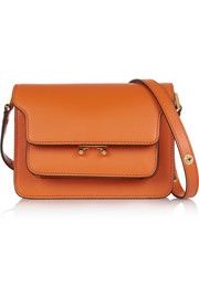 Trunk mini leather shoulder bag