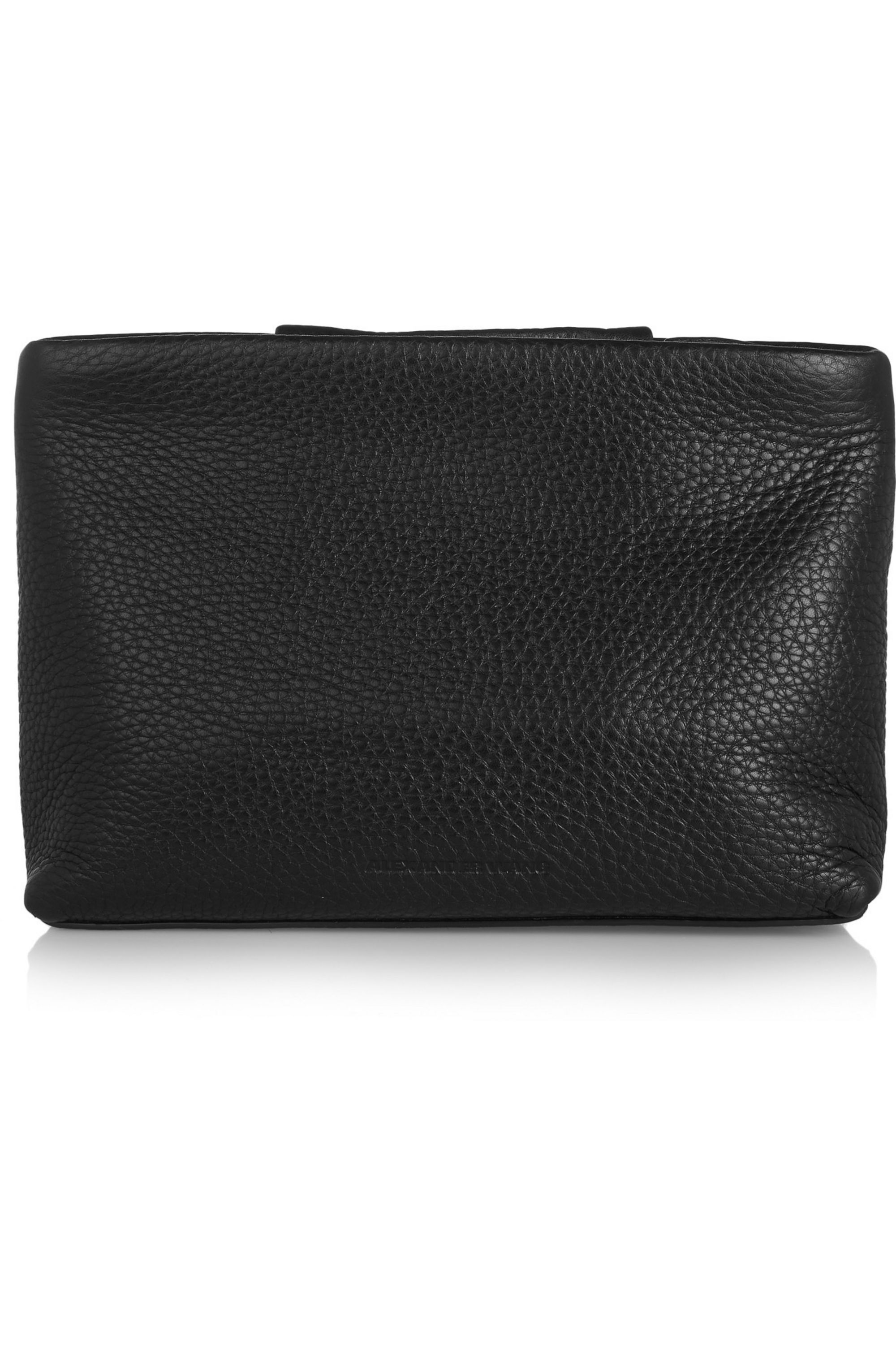 Alexander Wang Dumbo textured-leather clutch