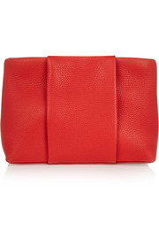 Dumbo textured-leather clutch
