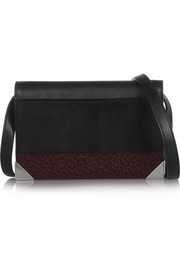 Prisma Biker leather and calf hair shoulder bag