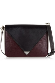 Prisma leather and calf hair shoulder bag