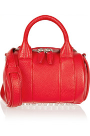 Rockie mini textured-leather tote