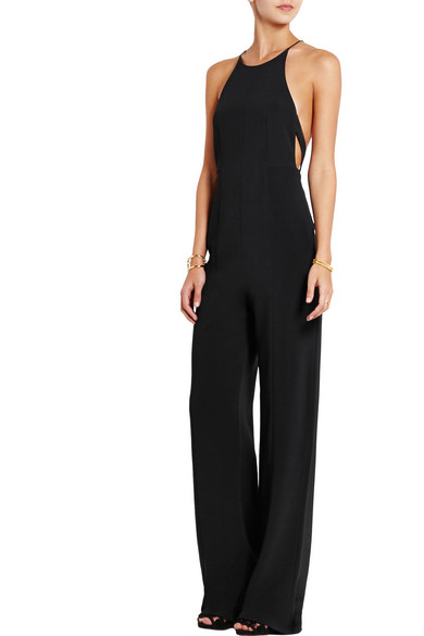 686155076aa7 Narciso Rodriguez. Cutout crepe racer-back jumpsuit