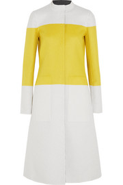 Narciso Rodriguez Reversible color-block wool coat