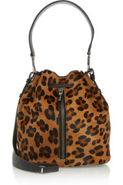 Elizabeth and James Cynnie leopard-print calf hair shoulder bag