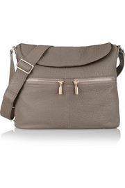 James textured-leather shoulder bag