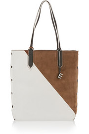 Elizabeth and James Scott color-block leather and suede tote