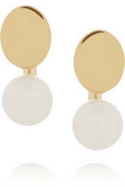 Chloé Darcey gold-tone Swarovski pearl earrings