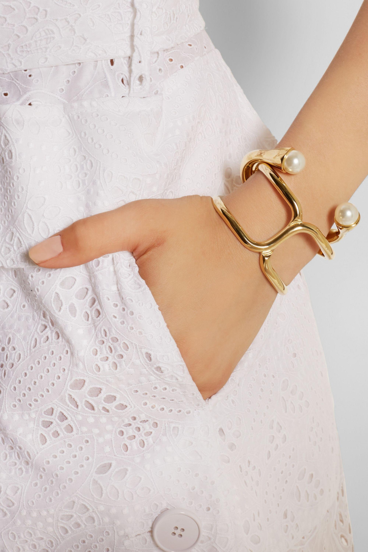 Chloé Darcey gold-tone Swarovski pearl cuff
