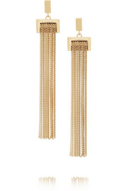 Delfine gold-tone fringed earrings