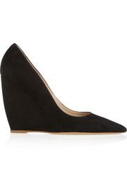 Lizy suede wedge pumps