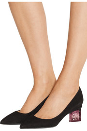 Carnaby Prism suede pumps