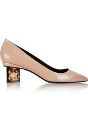 Carnaby Prism patent-leather pumps
