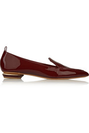 Nicholas Kirkwood Patent-leather point-toe flats