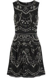 Needle & Thread Embellished crepe mini dress