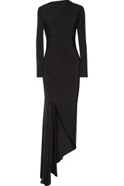 Needle & Thread Asymmetric stretch-jersey gown