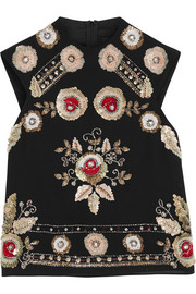 Needle & Thread Embellished chiffon top