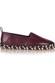 Leather espadrilles