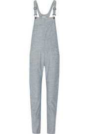 Cotton-chambray overalls