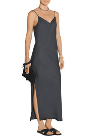 Cove silk-twill maxi dress