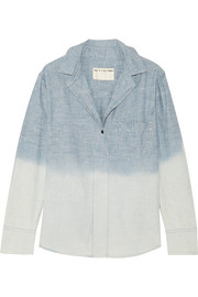 Leeds dégradé cotton-chambray shirt