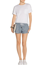 Cotton-chambray shorts