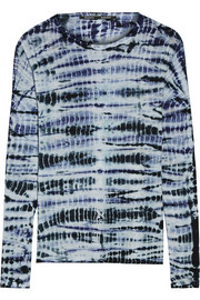 Proenza Schouler Tie-dyed cotton-jersey top