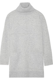 Oversized stretch cashmere-blend turtleneck sweater