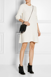 Ribbed wool and cashmere-blend dress