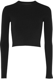 Proenza Schouler Cropped stretch-jersey top