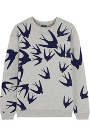 Flocked cotton-jersey sweatshirt