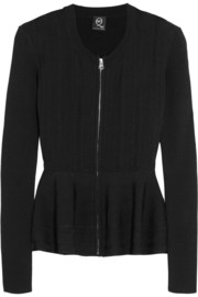 McQ Alexander McQueen Stretch-knit peplum jacket