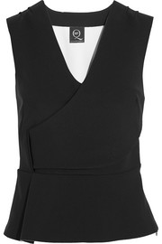 Stretch-scuba peplum top