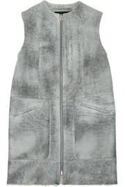 Flecked shearling vest