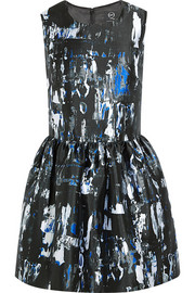 McQ Alexander McQueen Printed twill mini dress
