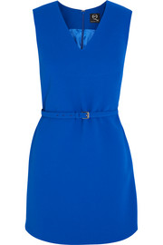 Belted  crepe mini dress