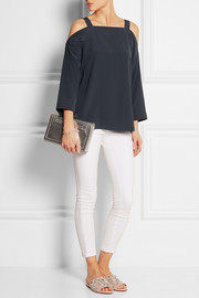 Silk crepe de chine top