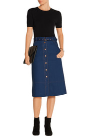 Branson belted denim skirt