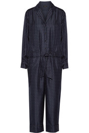 Arthur polka-dot silk-twill jumpsuit