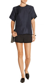 Rudy polka-dot silk-twill top