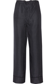 Gabrielle polka-dot silk-twill wide-leg pants
